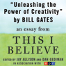 Unleashing the Power of Creativity - essay by Bill Gates